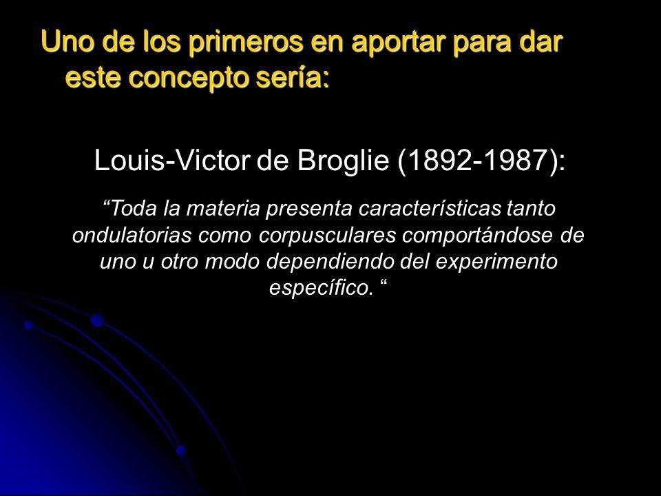 Louis-Victor de Broglie (1892-1987):