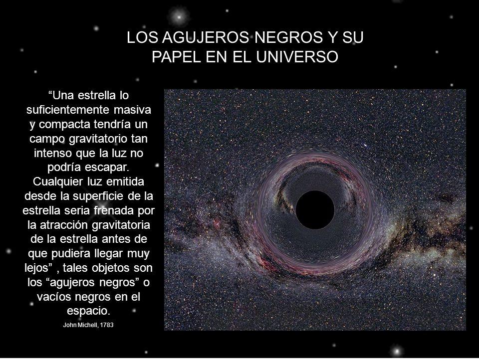 LOS AGUJEROS NEGROS Y SU PAPEL EN EL UNIVERSO