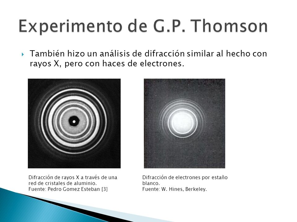 Experimento de G.P. Thomson