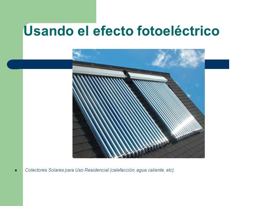 Usando el efecto fotoeléctrico