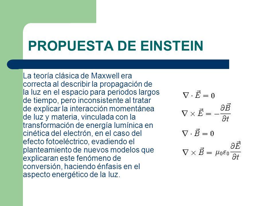 PROPUESTA DE EINSTEIN