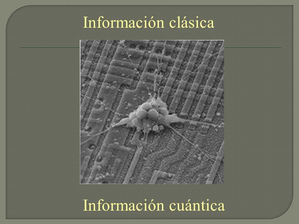 Información clásica Información cuántica