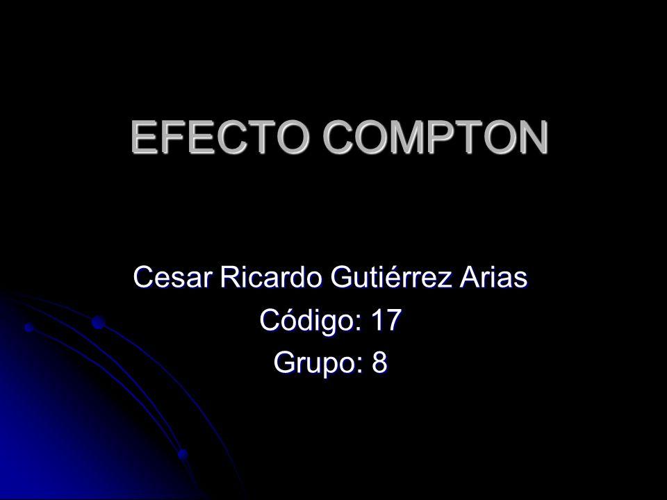 Cesar Ricardo Gutiérrez Arias Código: 17 Grupo: 8