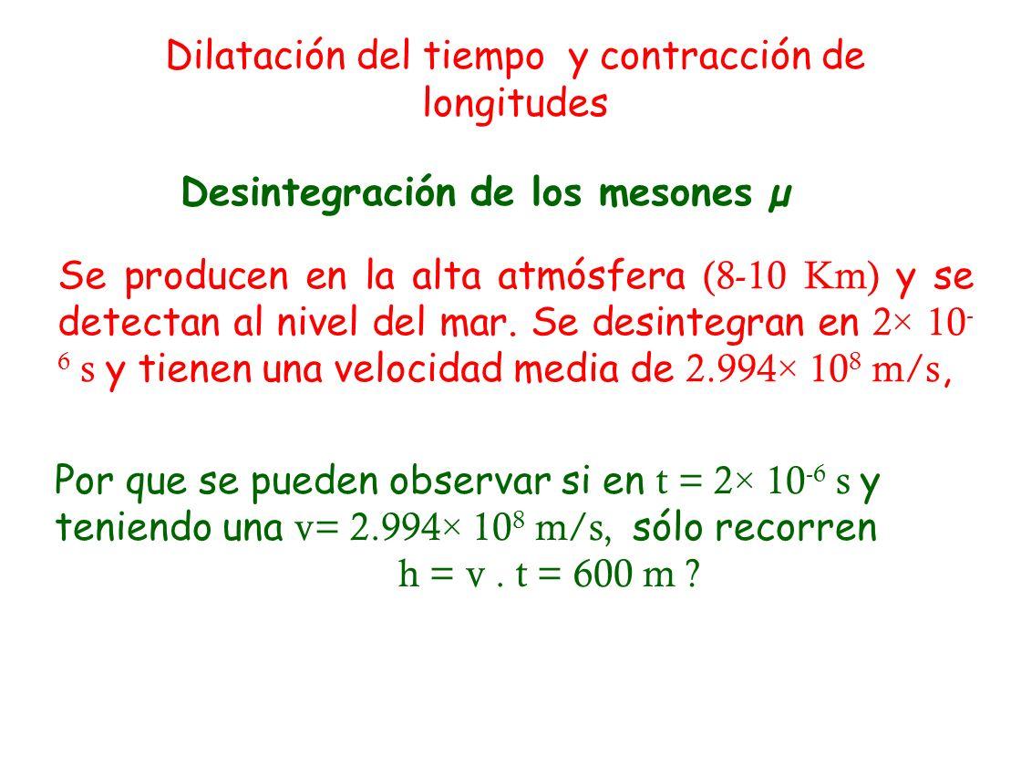 Desintegración de los mesones µ