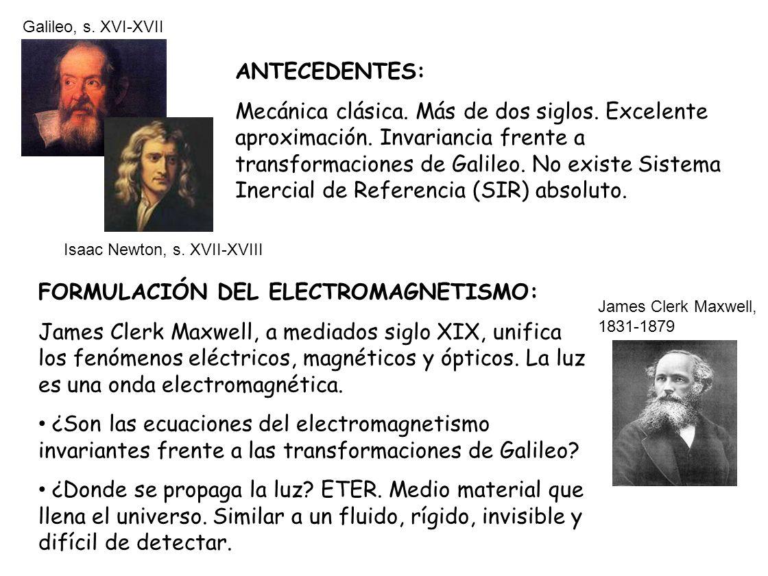 FORMULACIÓN DEL ELECTROMAGNETISMO:
