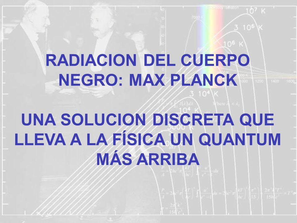 RADIACION DEL CUERPO NEGRO: MAX PLANCK