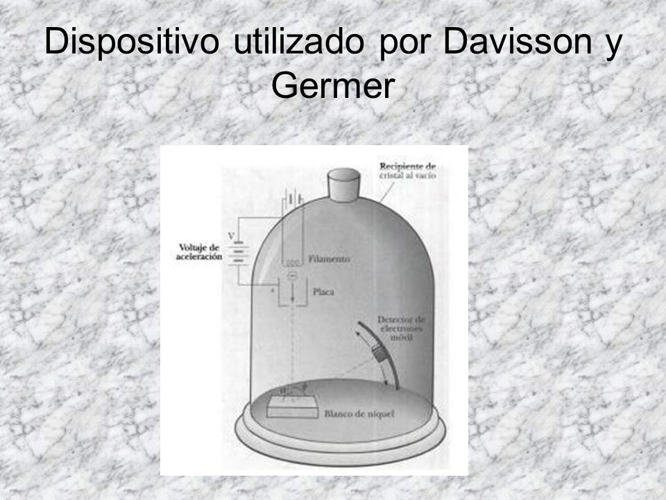 Dispositivo utilizado por Davisson y Germer
