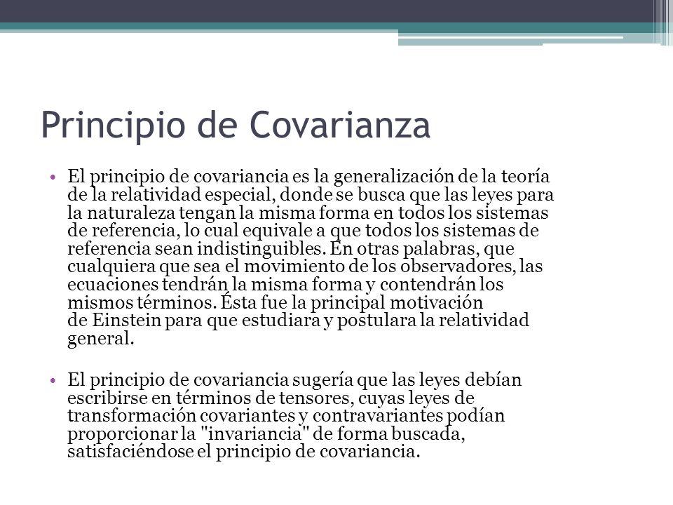 Principio de Covarianza