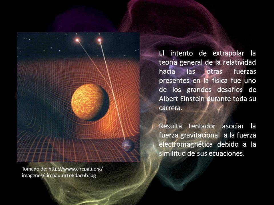 El intento de extrapolar la teoría general de la relatividad hacia las otras fuerzas presentes en la física fue uno de los grandes desafíos de Albert Einstein durante toda su carrera.