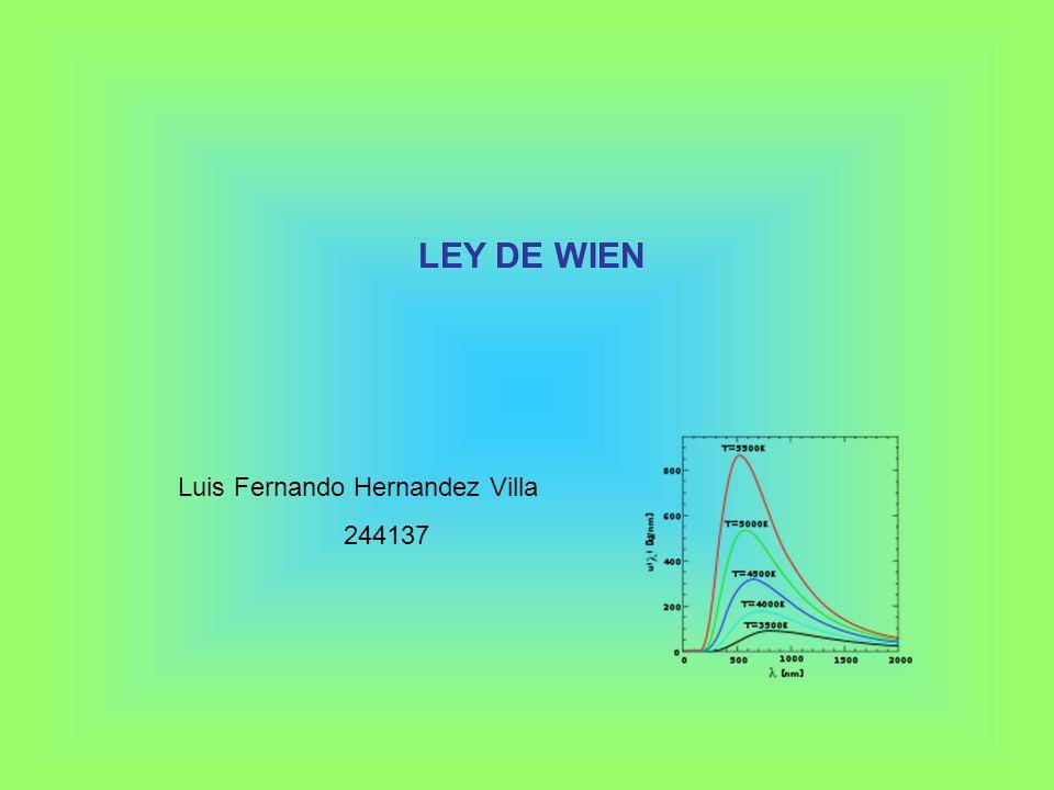 LEY DE WIEN Luis Fernando Hernandez Villa 244137