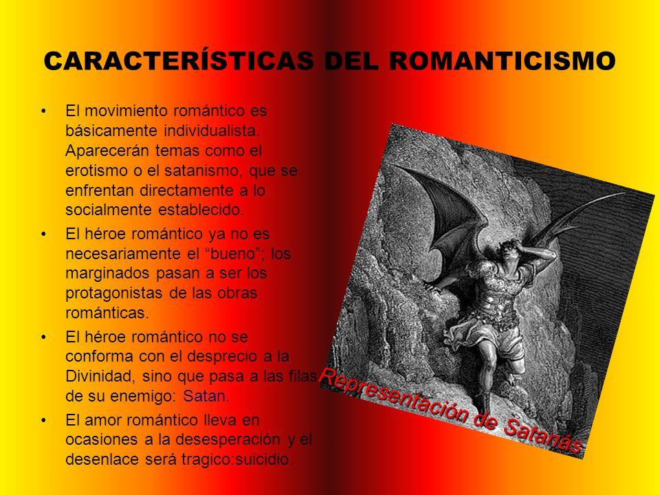 CARACTERÍSTICAS DEL ROMANTICISMO