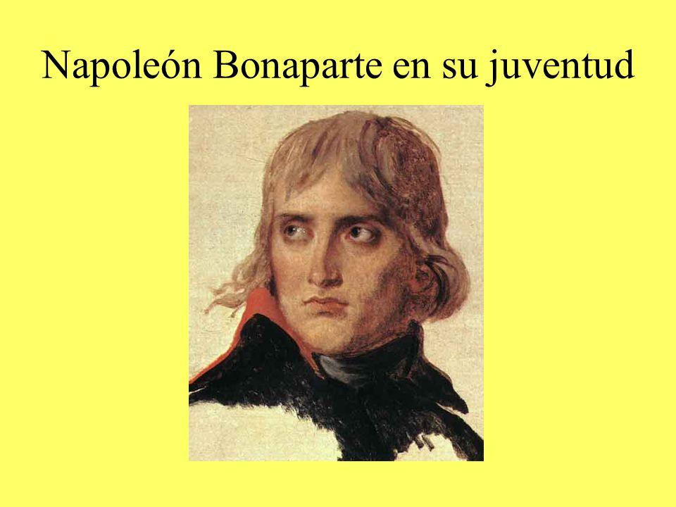 Napoleón Bonaparte en su juventud