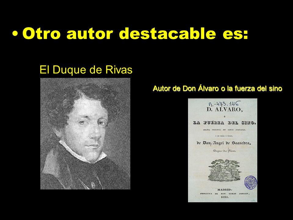 Autor de Don Álvaro o la fuerza del sino