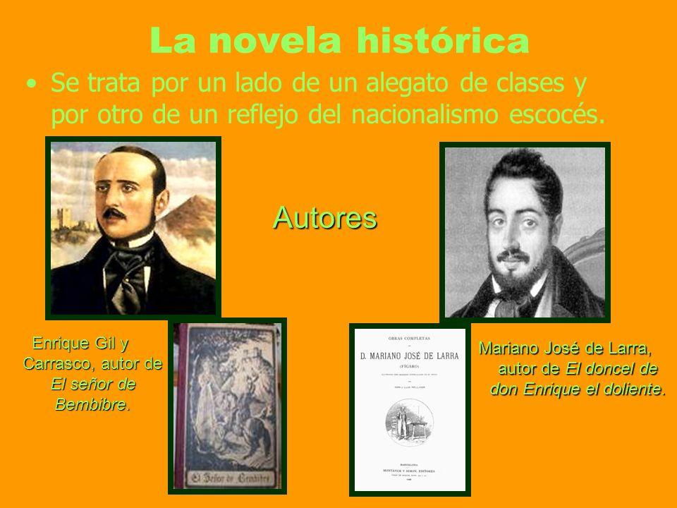 La novela histórica Autores