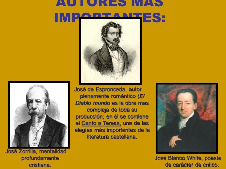 AUTORES MÁS IMPORTANTES: