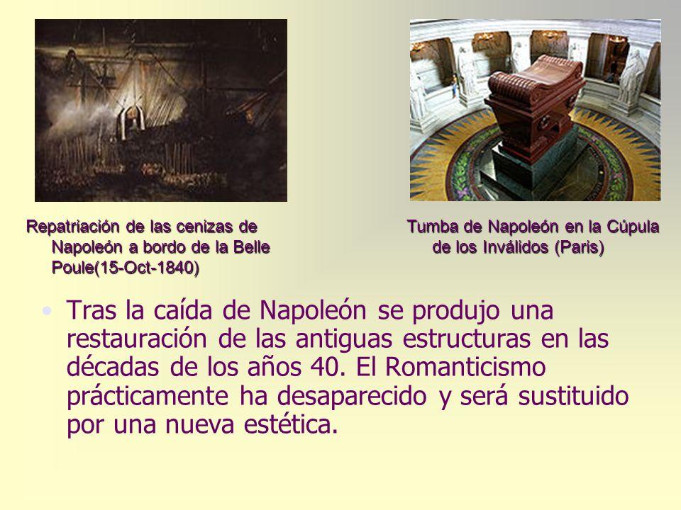 Repatriación de las cenizas de Napoleón a bordo de la Belle Poule(15-Oct-1840)