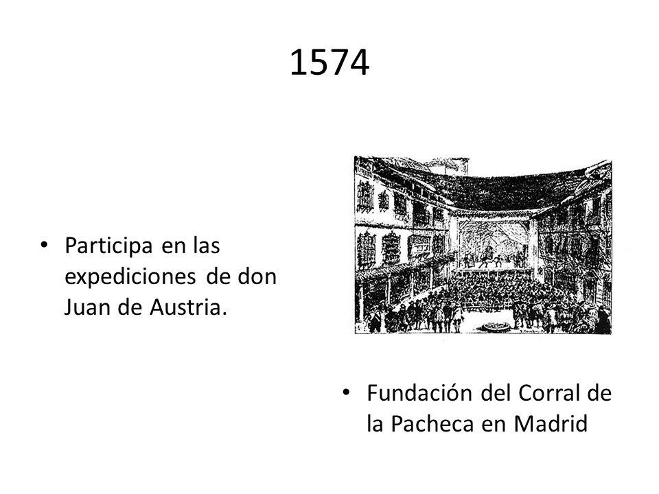1574 Participa en las expediciones de don Juan de Austria.