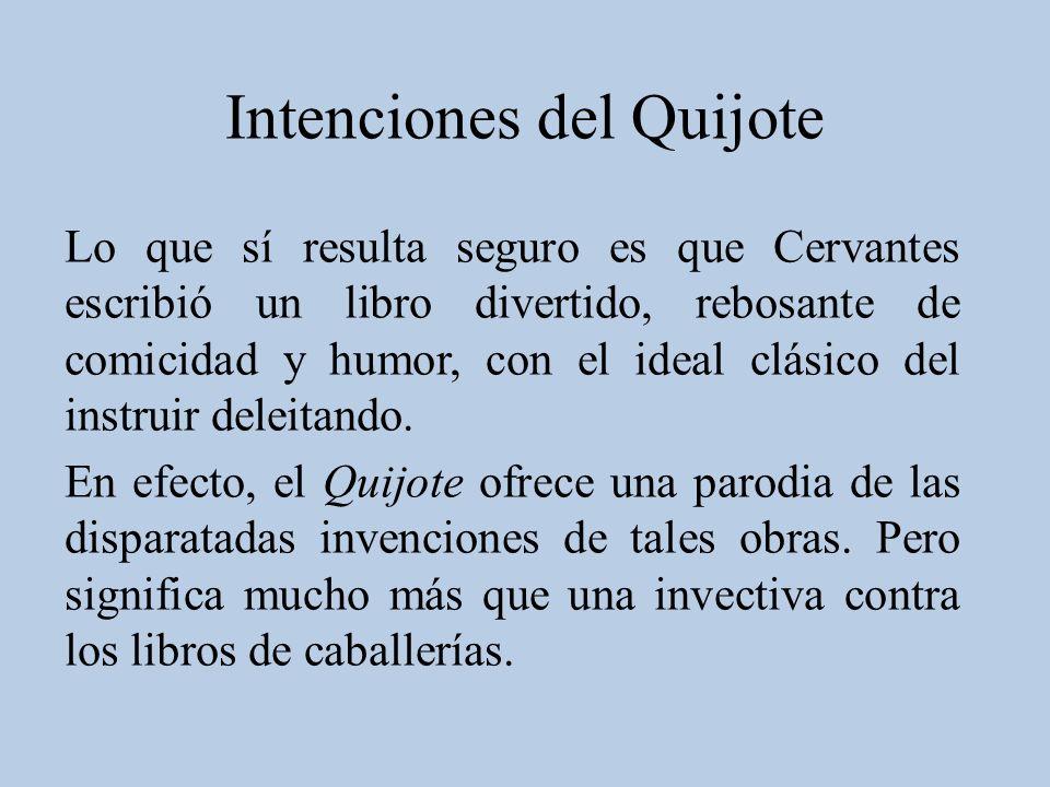 Intenciones del Quijote