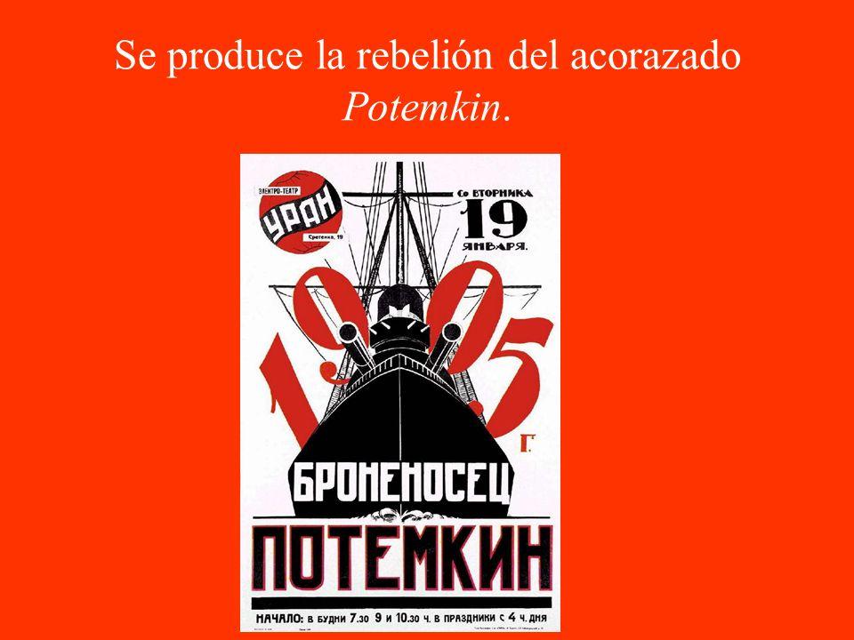 Se produce la rebelión del acorazado Potemkin.