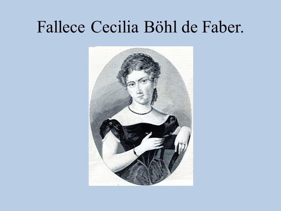Fallece Cecilia Böhl de Faber.