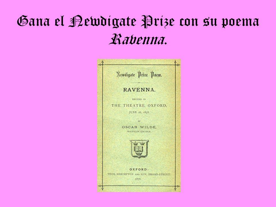 Gana el Newdigate Prize con su poema Ravenna.