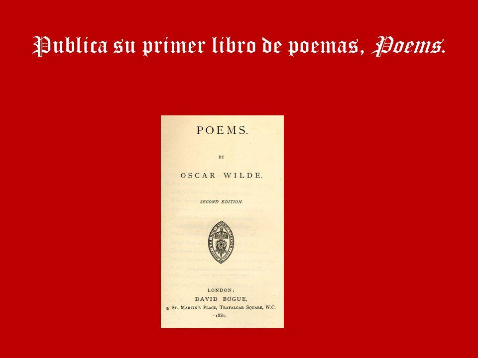 Publica su primer libro de poemas, Poems.