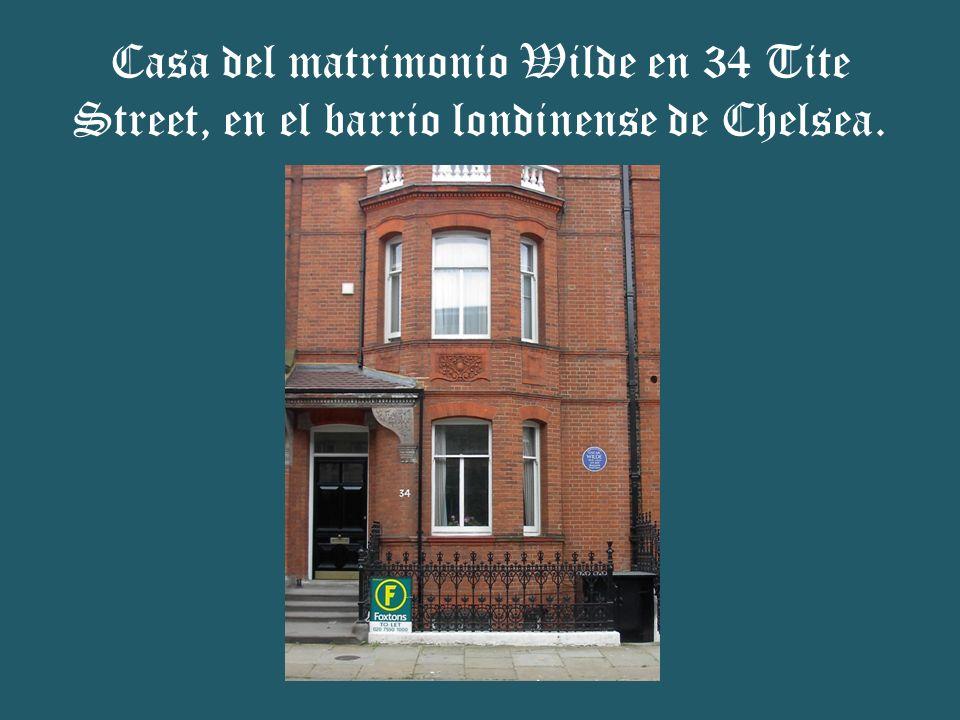 Casa del matrimonio Wilde en 34 Tite Street, en el barrio londinense de Chelsea.