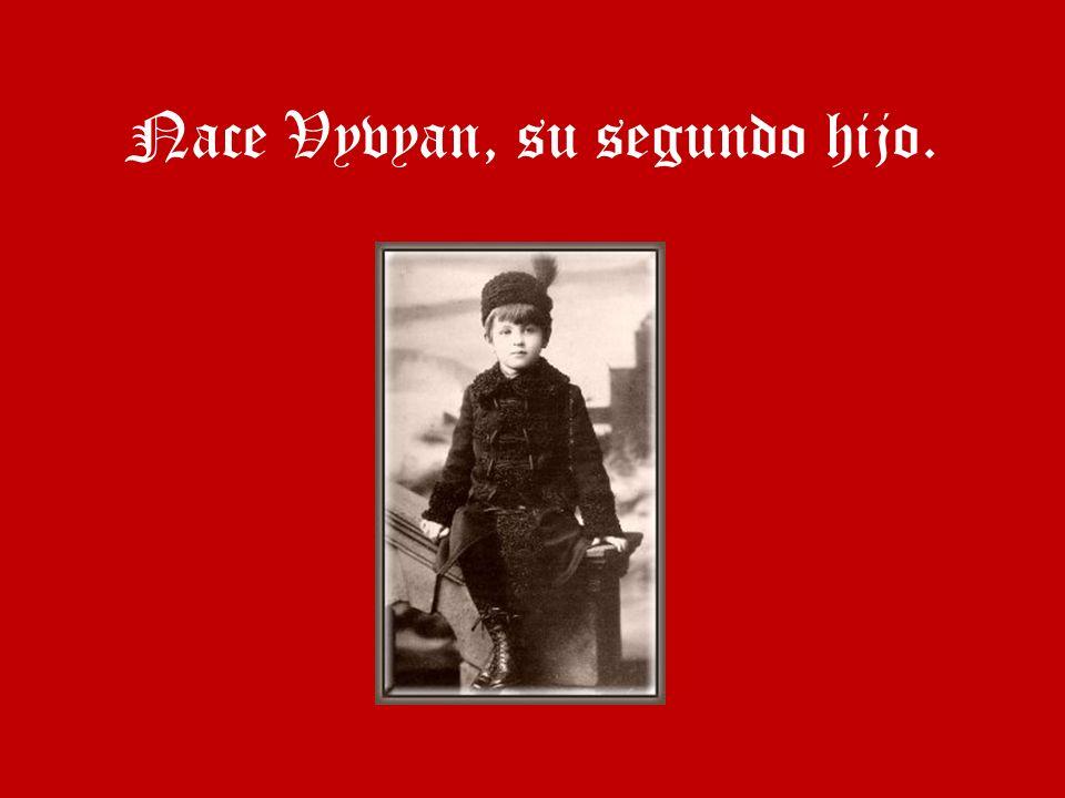 Nace Vyvyan, su segundo hijo.