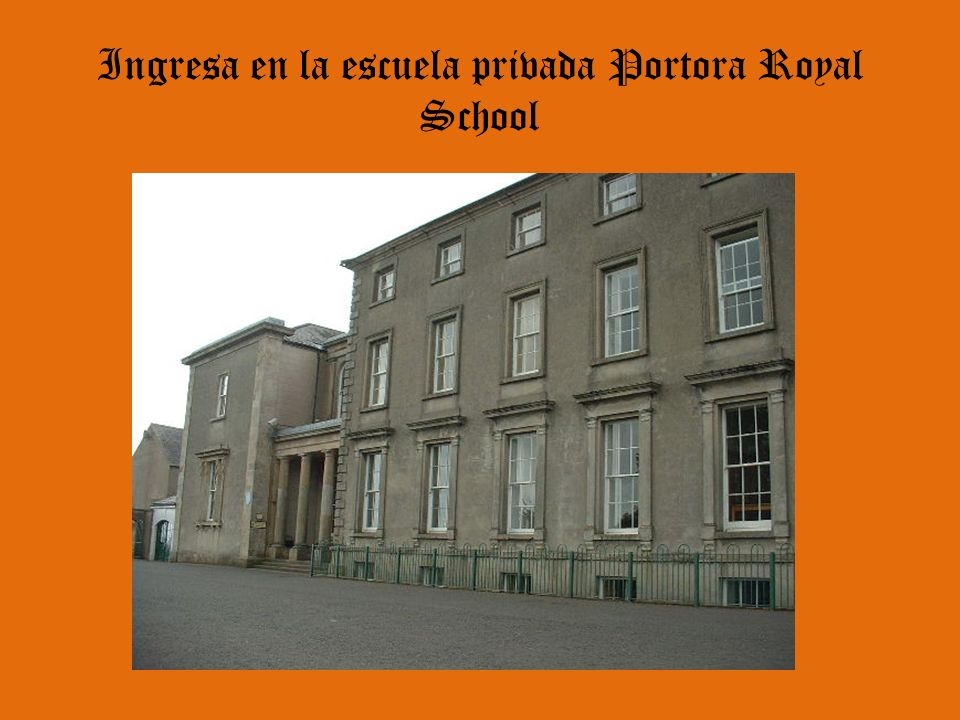 Ingresa en la escuela privada Portora Royal School