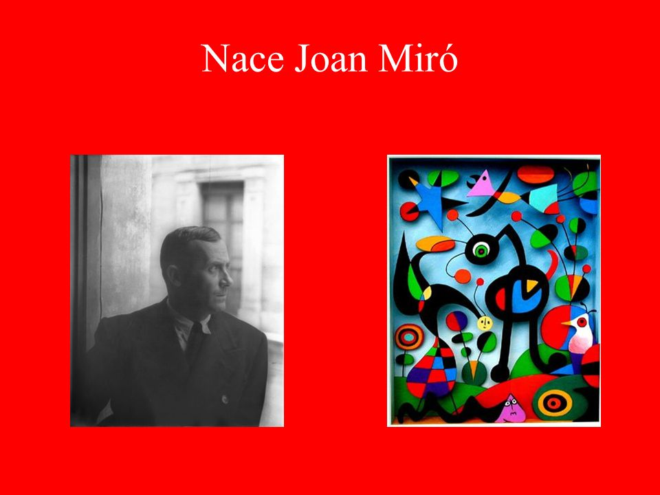 Nace Joan Miró