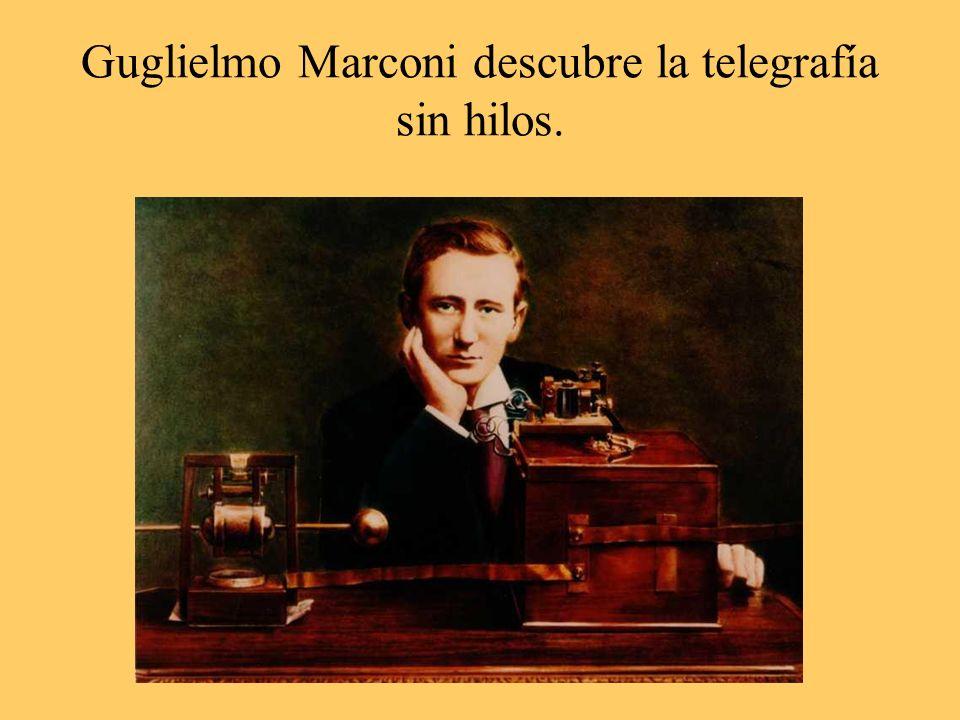 Guglielmo Marconi descubre la telegrafía sin hilos.