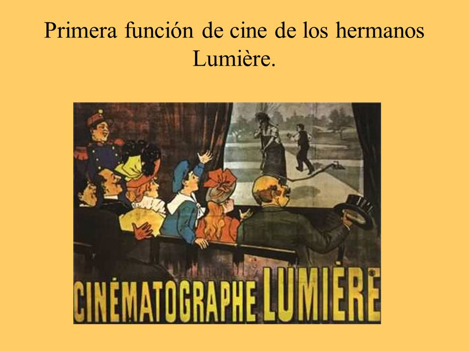 Primera función de cine de los hermanos Lumière.