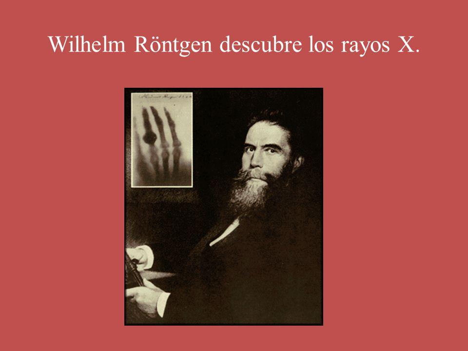 Wilhelm Röntgen descubre los rayos X.