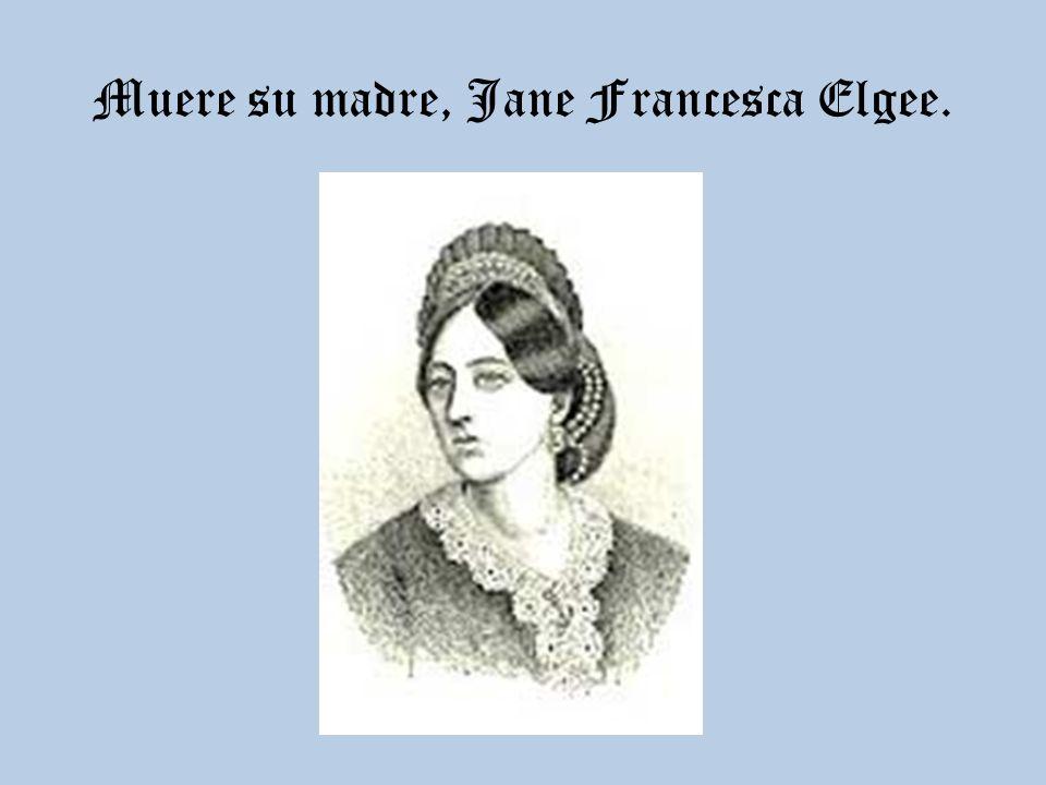 Muere su madre, Jane Francesca Elgee.
