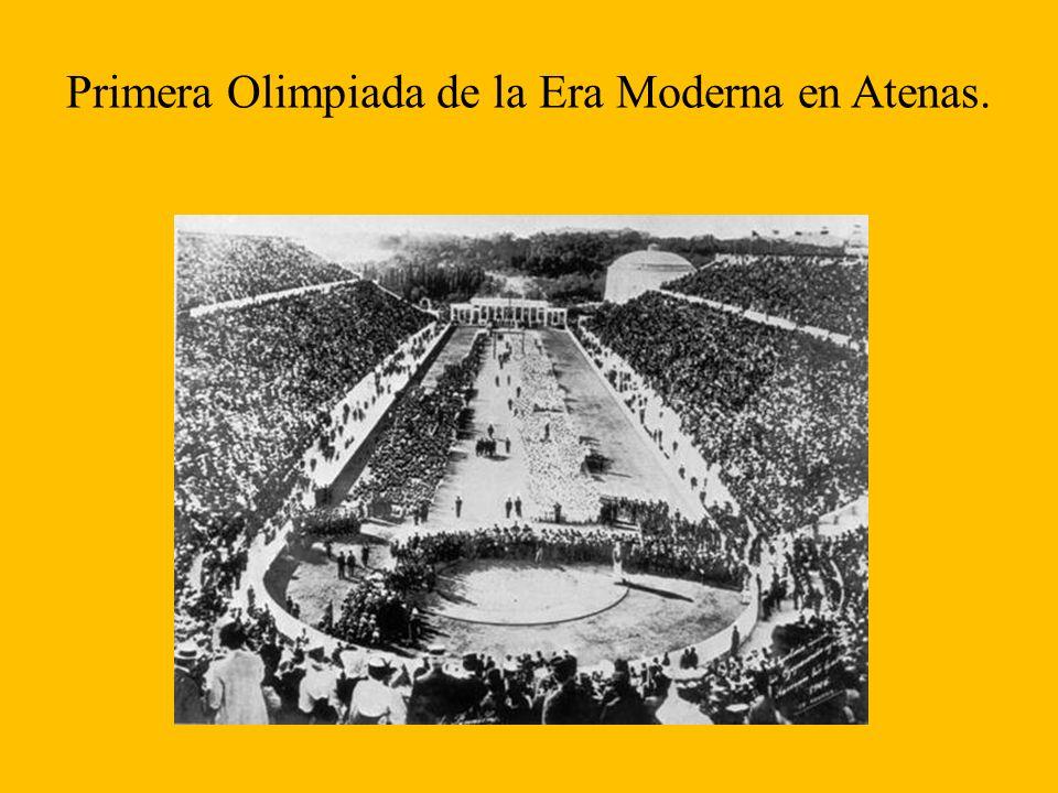 Primera Olimpiada de la Era Moderna en Atenas.