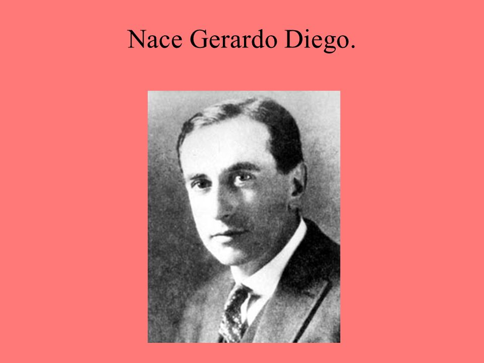 Nace Gerardo Diego.