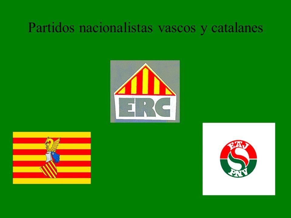 Partidos nacionalistas vascos y catalanes