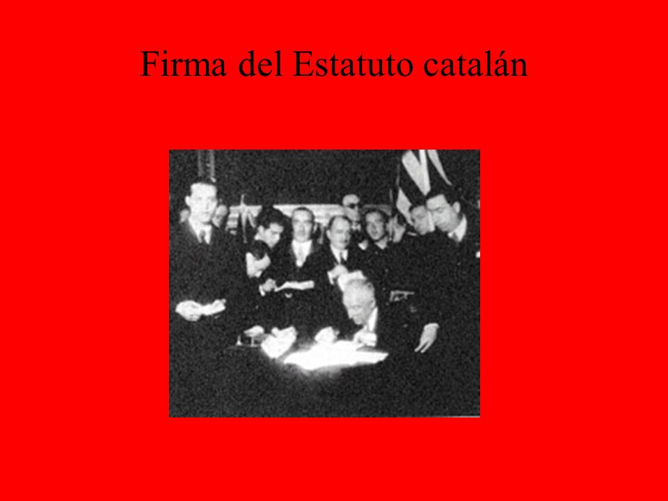 Firma del Estatuto catalán