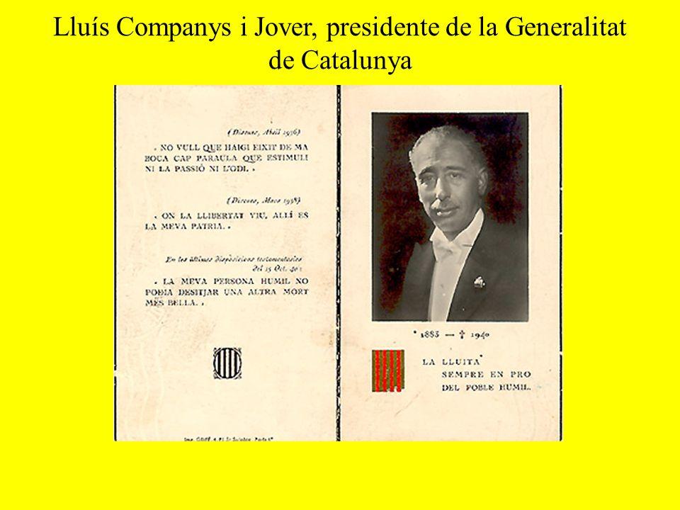 Lluís Companys i Jover, presidente de la Generalitat de Catalunya