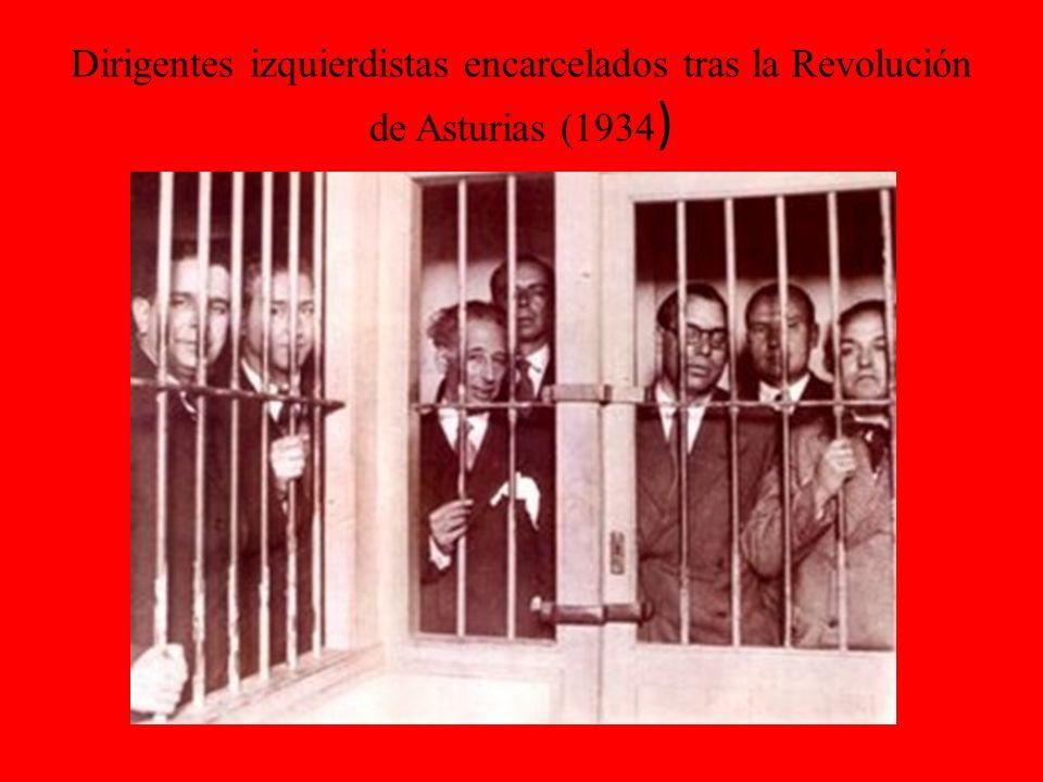 Dirigentes izquierdistas encarcelados tras la Revolución de Asturias (1934)