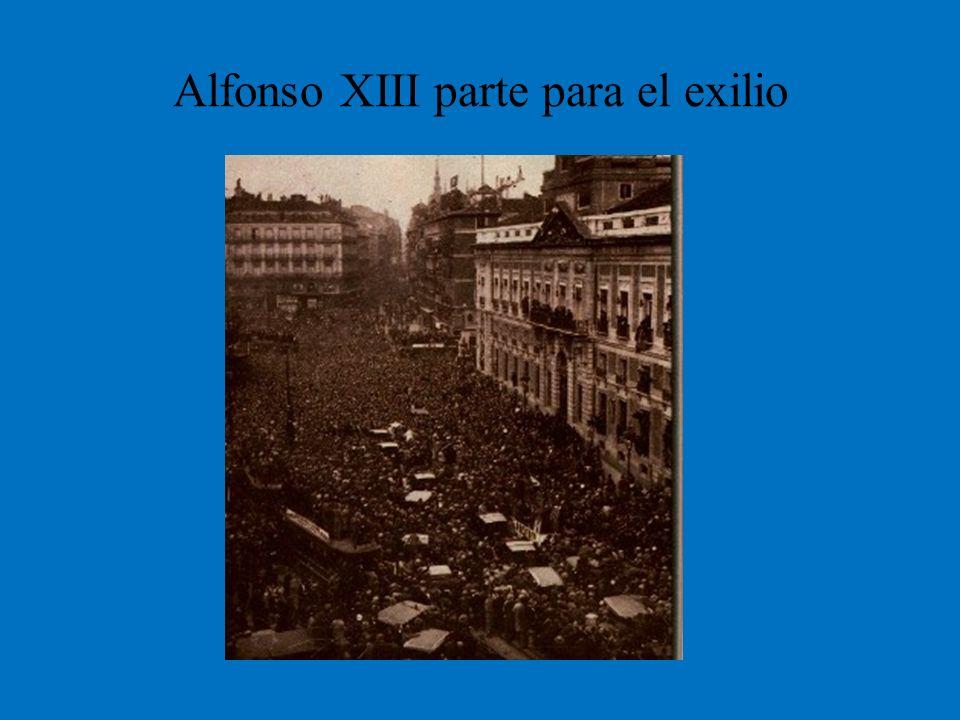 Alfonso XIII parte para el exilio