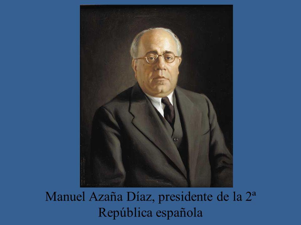 Manuel Azaña Díaz, presidente de la 2ª República española