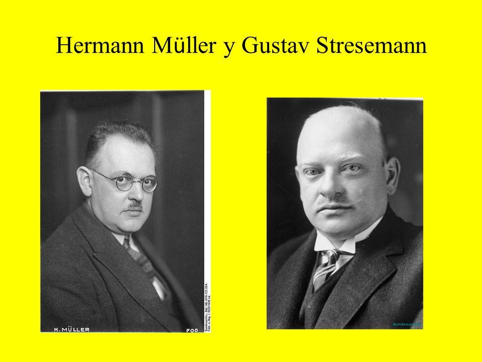 Hermann Müller y Gustav Stresemann