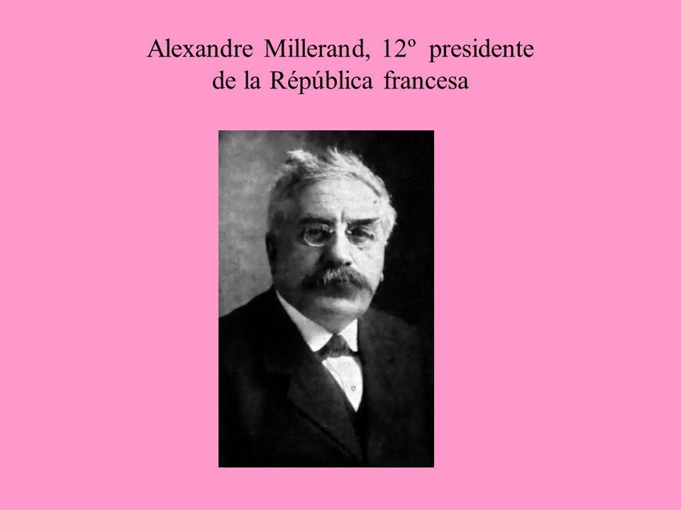 Alexandre Millerand, 12º presidente de la Répública francesa