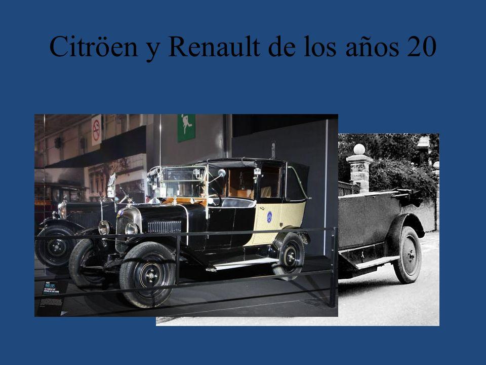 Citröen y Renault de los años 20