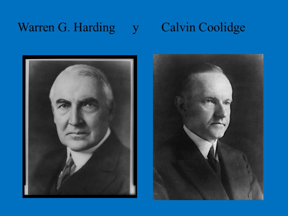 Warren G. Harding y Calvin Coolidge