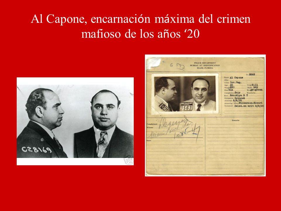 Al Capone, encarnación máxima del crimen mafioso de los años '20