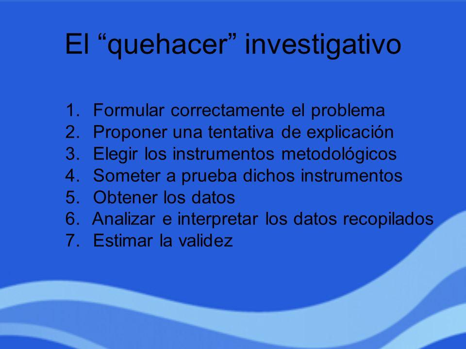 El quehacer investigativo