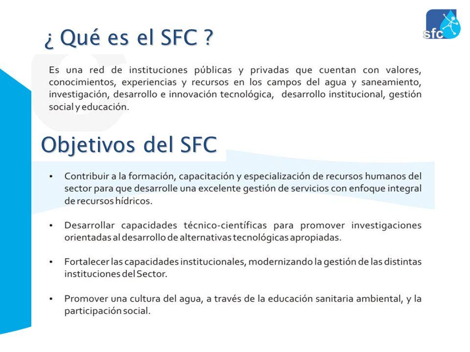 ¿ Qué es el SFC Objetivos del SFC