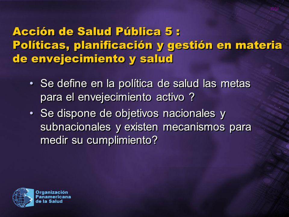 Acción de Salud Pública 5 : Políticas, planificación y gestión en materia de envejecimiento y salud